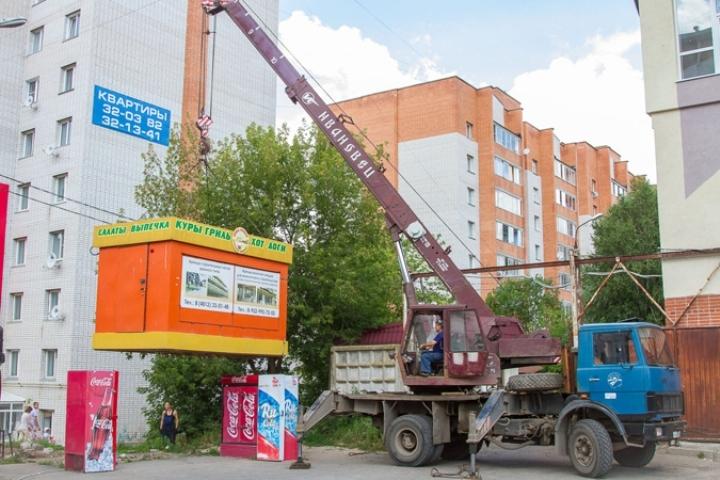 ВКазани уберут 14 незаконных павильонов