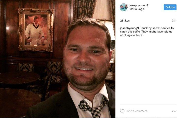 Пробравшийся впоместье Трампа мужчина сделал селфи вкабинете президента США