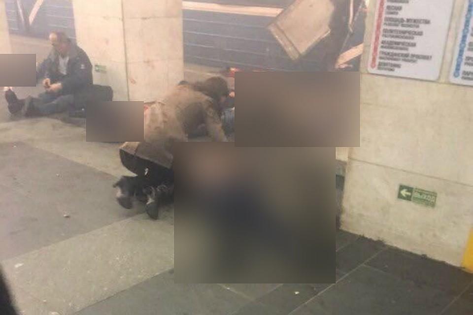 Очевидец заснял навидео ужасающие последствия взрыва вМетрополитене Петербурга