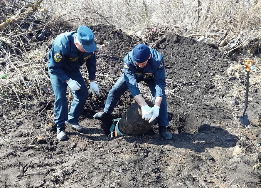 Фугасную авиабомбу весом 250 килограммов устранили вБелгородской области