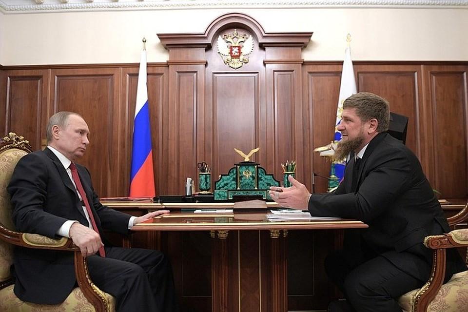 Путин указал Кадырову нанападение начасть Росгвардии вЧечне