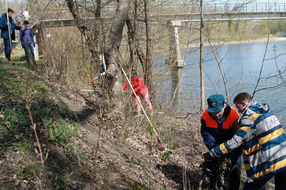 ВКурске начали чистить берега рек