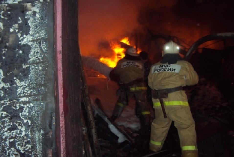 ВРостовской области зажегся исгорел покрасочный цех