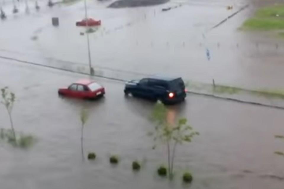 Улицы Владикавказа превратились вреки после дождя