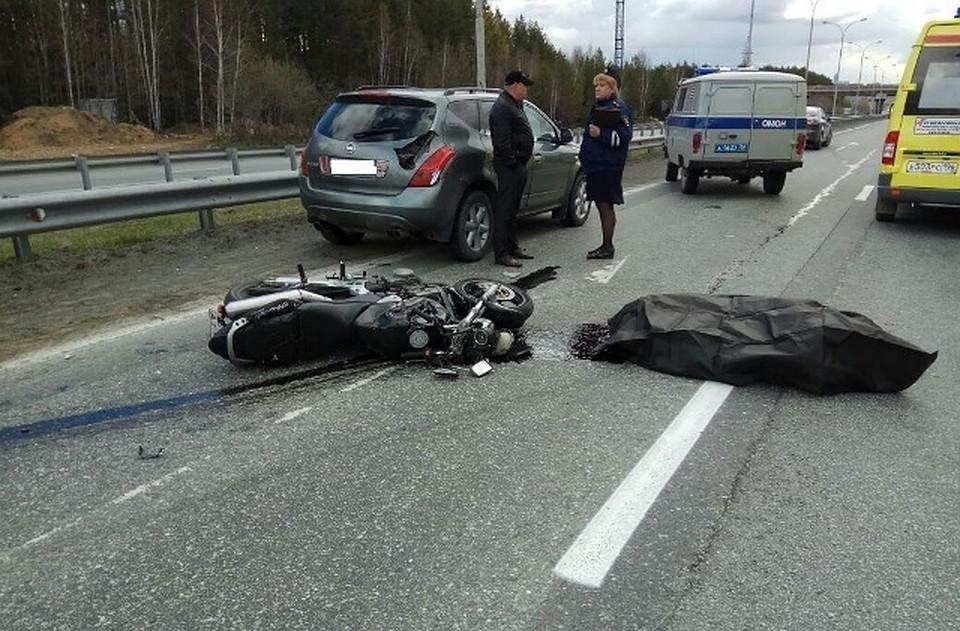 НаМосковском тракте насмерть сбили 33-летнего мотоциклиста