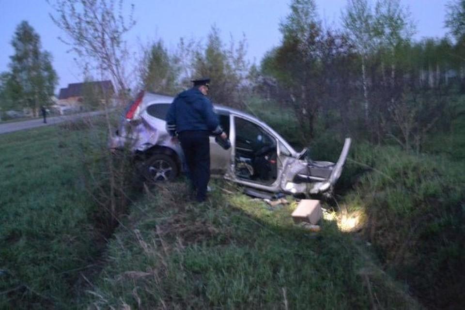 Под Новосибирском перевернулась Хонда Stream: пассажир умер
