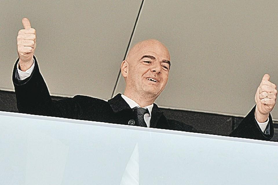 Президент ФИФА высоко оценил компанию Кубка конфедераций в Российской Федерации