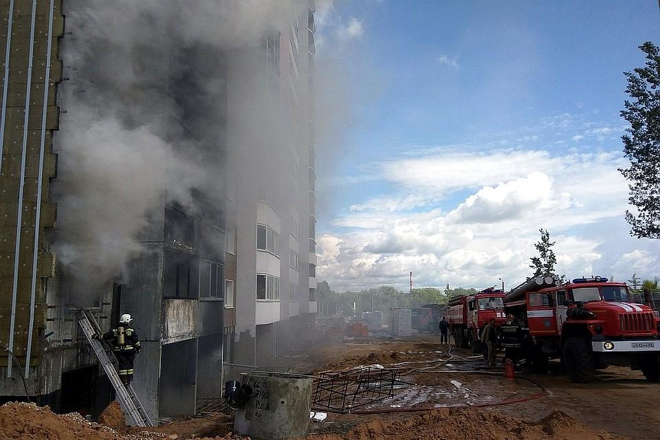 ВТвери горел строящийся дом наулице Склизкова