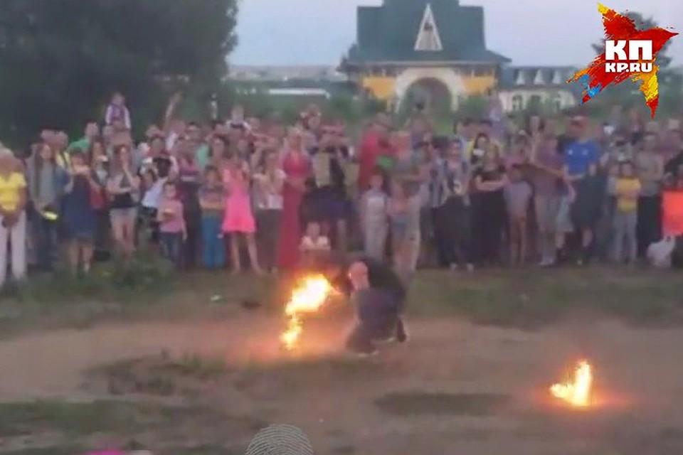 Трое артистов загорелись вовремя файер-шоу вКемерове