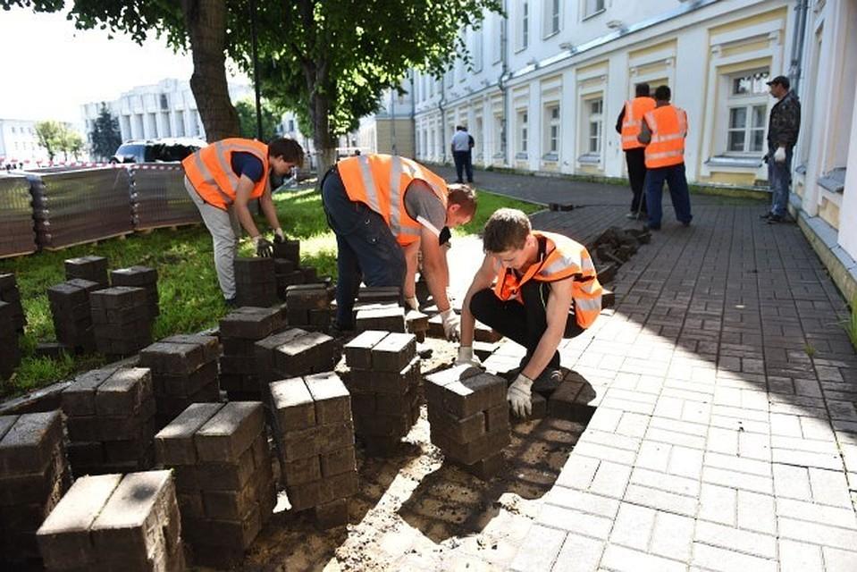 Плитку сСоветской площади положат вчетырех городских парках
