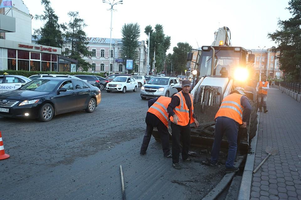 ВИркутске впервый раз за13 лет починят дорогу вокруг сквера Кирова