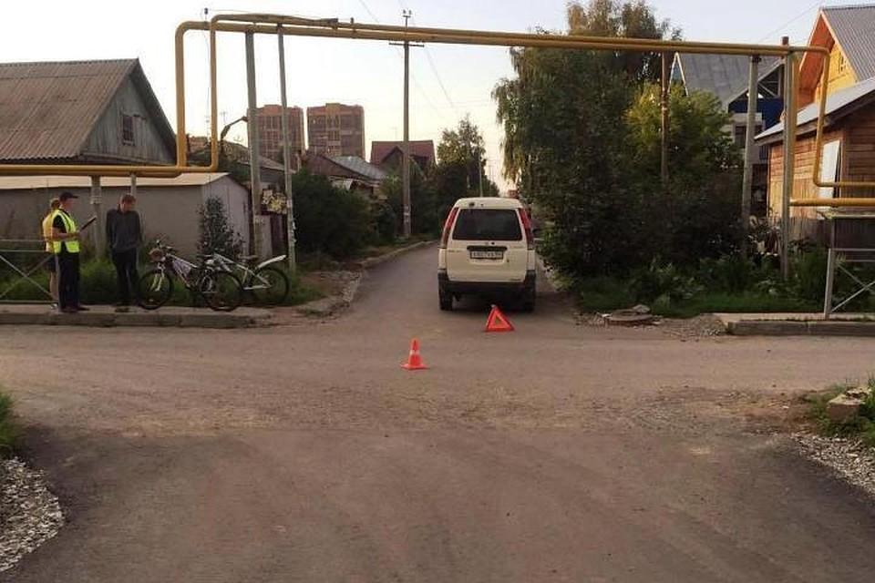 ВНовосибирске нетрезвый шофёр наиномарке сбил велосипедистку
