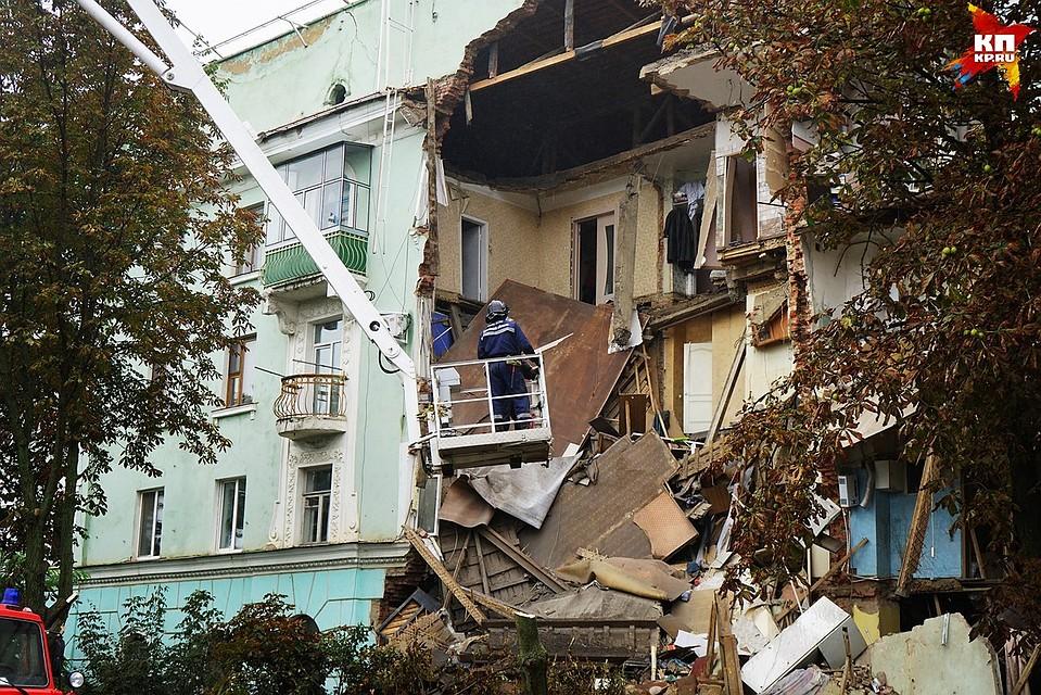 Вдень задуманных противоаварийных работ дом вОрле рухнул