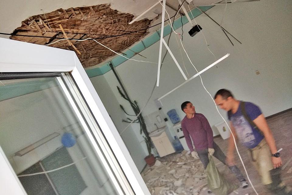 ВСамаре вшколе №46 обрушился потолок