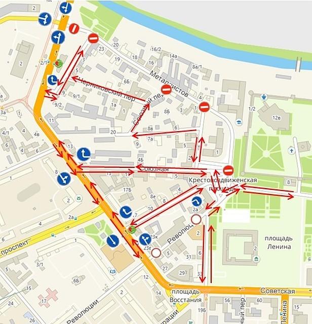 С17сентября поулице Металлистов вТуле запретят движение