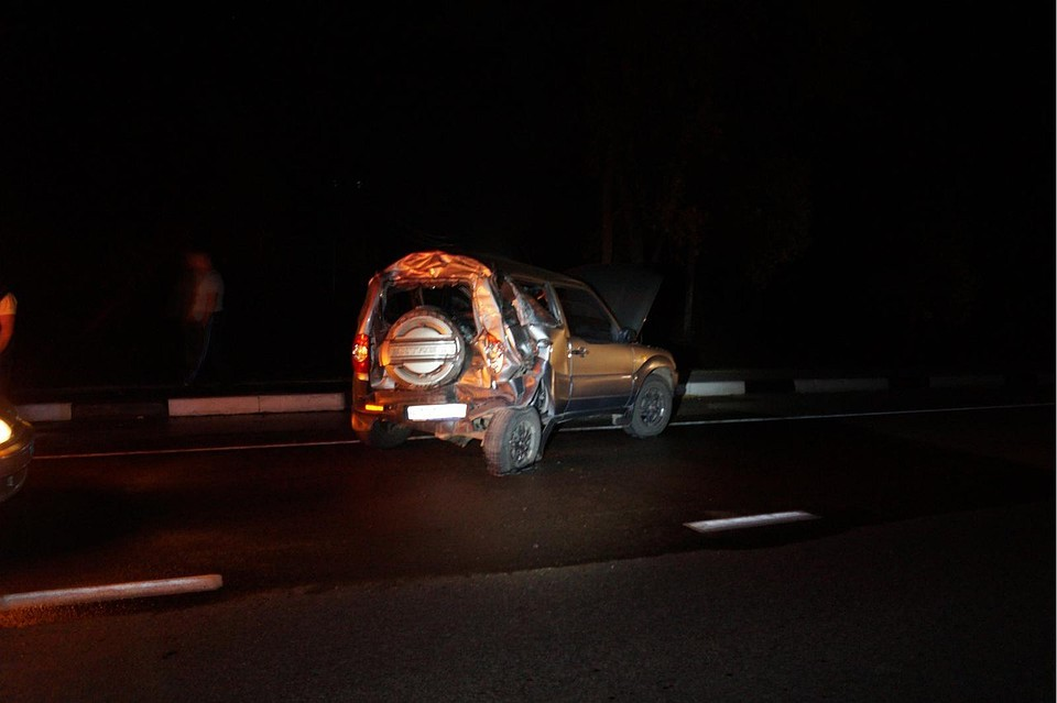 ВОрловской области грузовой автомобиль МАН въехал в«Ниву»