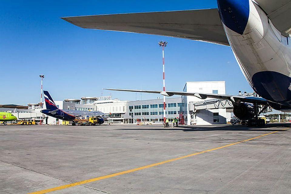 Ваэропорту Пулково женщина с сыном выпали страпа самолета