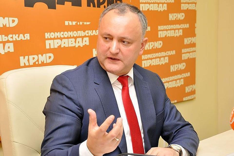 Президент Молдовы поведал , «как господь  сделал его президентом»