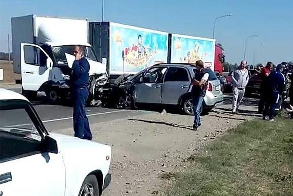 Под Краснодаром вДТП навстречке погибла женщина