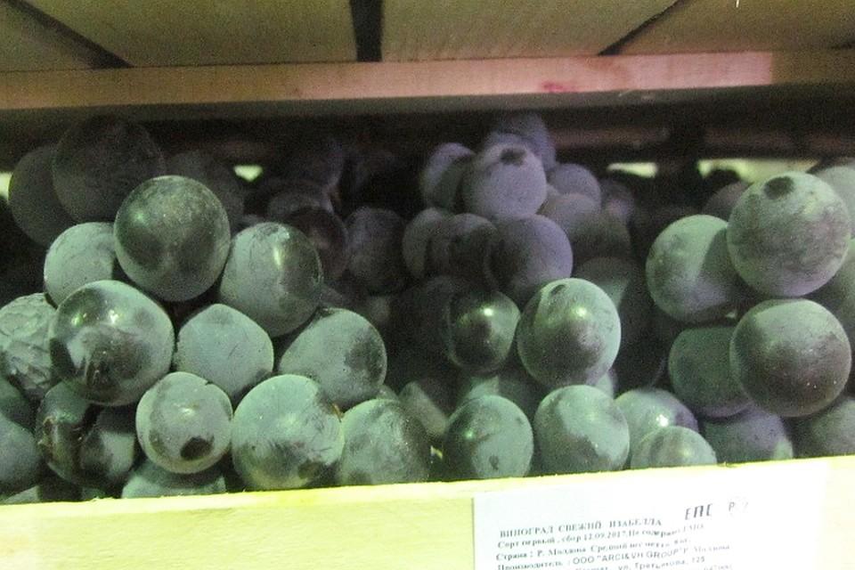 Курские пограничники обнаружили полторы тонны «лишнего» винограда изМолдовы