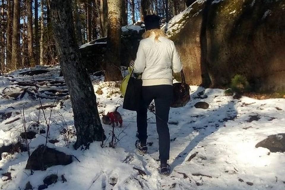 Красноярка устроила на«Столбах» скандал из-за собственной собачки