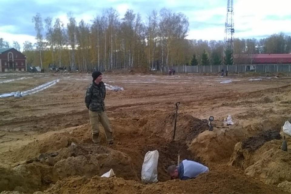 ВЯрцево вовремя строительства стадиона обнаружили останки десятков людей