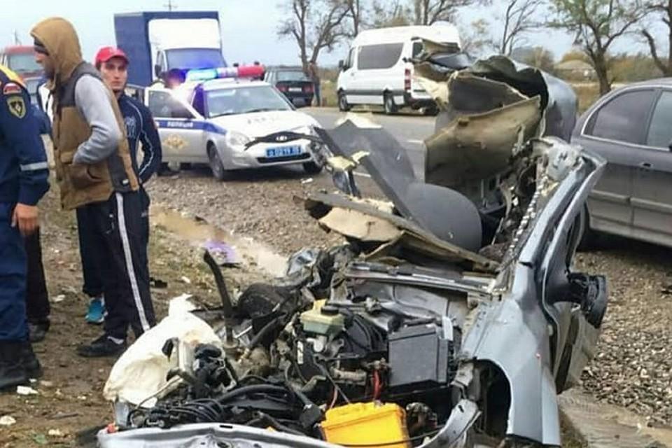 ВДагестане встолкновении автобуса и«легковушки» погибли три человека