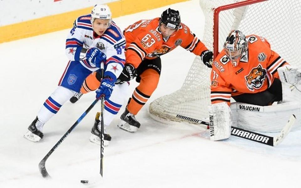 Хабаровский «Амур» уступил питерскому СКА вматче чемпионата КХЛ