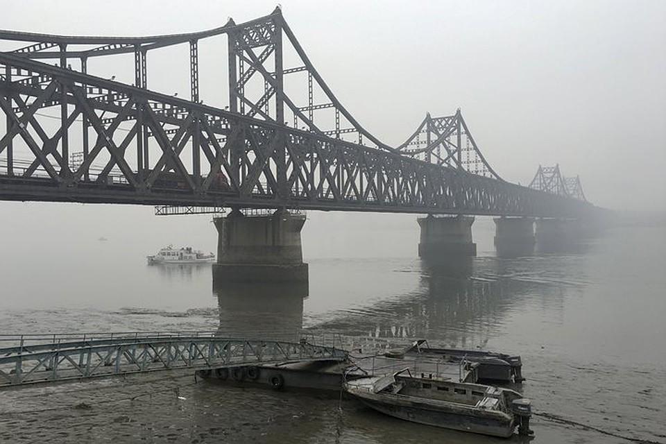 Власти Китая временно закрыли мост, соединяющий Китайская республика иСеверную Корею