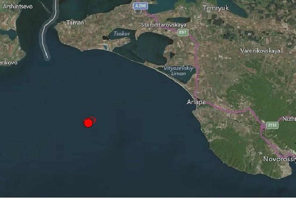 Вморе под Анапой случилось землетрясение