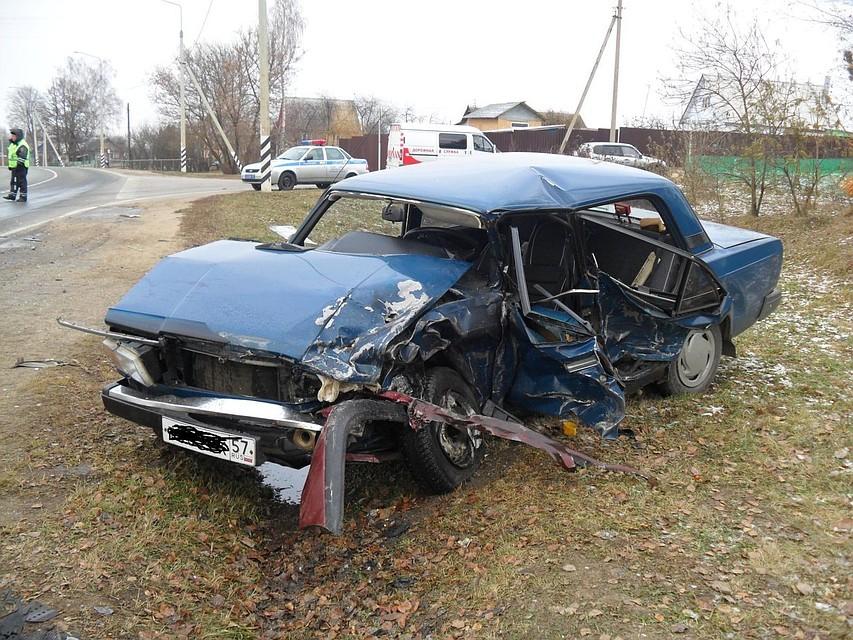ВОрловской области автоледи выехала навстречку