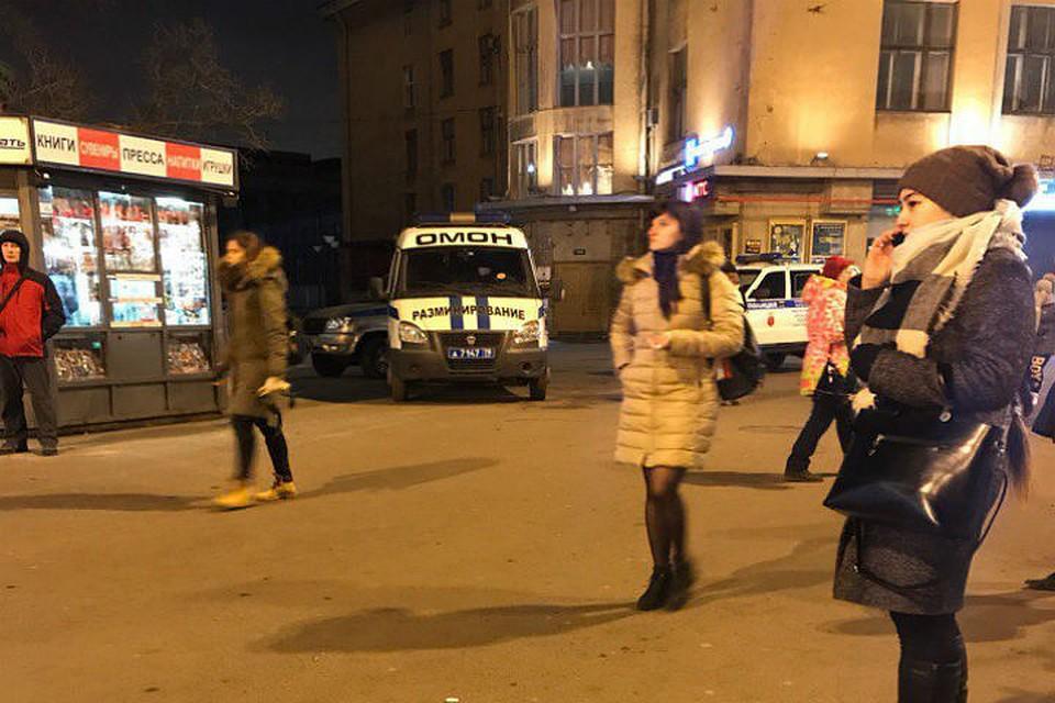 В северной столице станцию метро «Нарвская» проверяли практически 1.5 часа