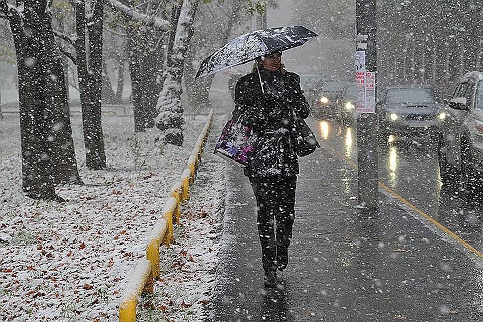 ВРязанской области вближайшие часы ожидаются сильный ветер имокрый снег