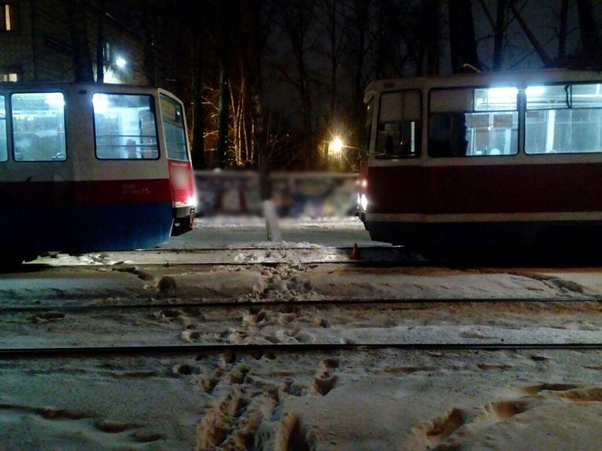 Два трамвая столкнулись вТомске, пострадала пенсионерка
