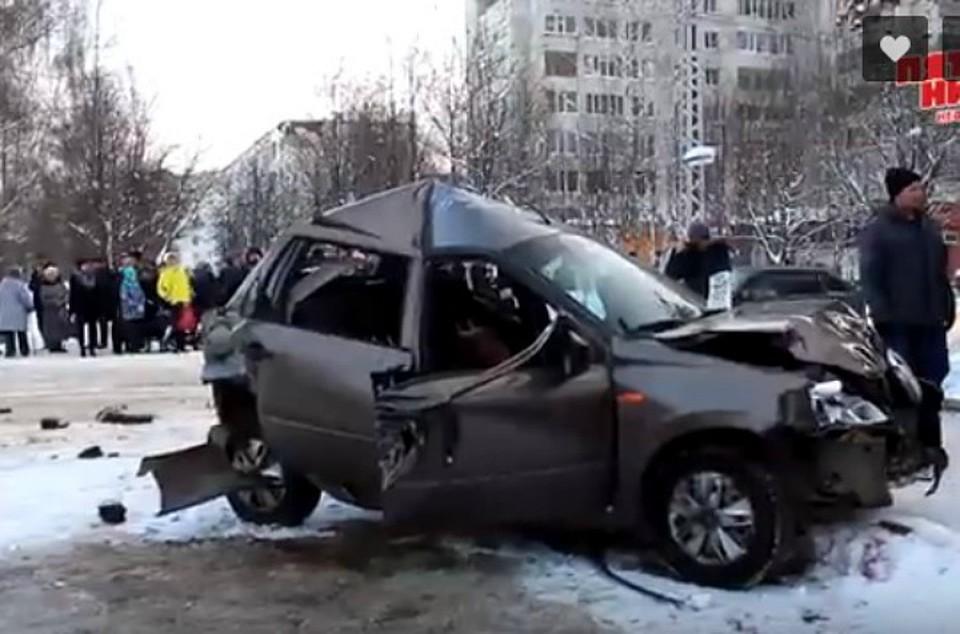ВНефтекамске легковушка спровоцировала массовое ДТП с 2-мя пострадавшими
