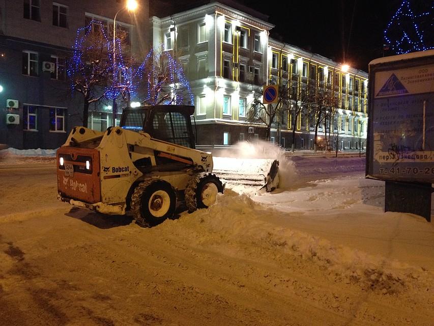 ВУльяновске дороги обработали 384 тоннами песко-соляной смеси