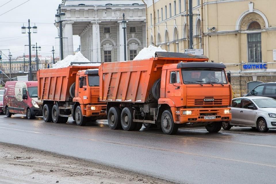 Всамом начале года сулиц Петербурга вывезли более 50-ти тыс. кубометров снега