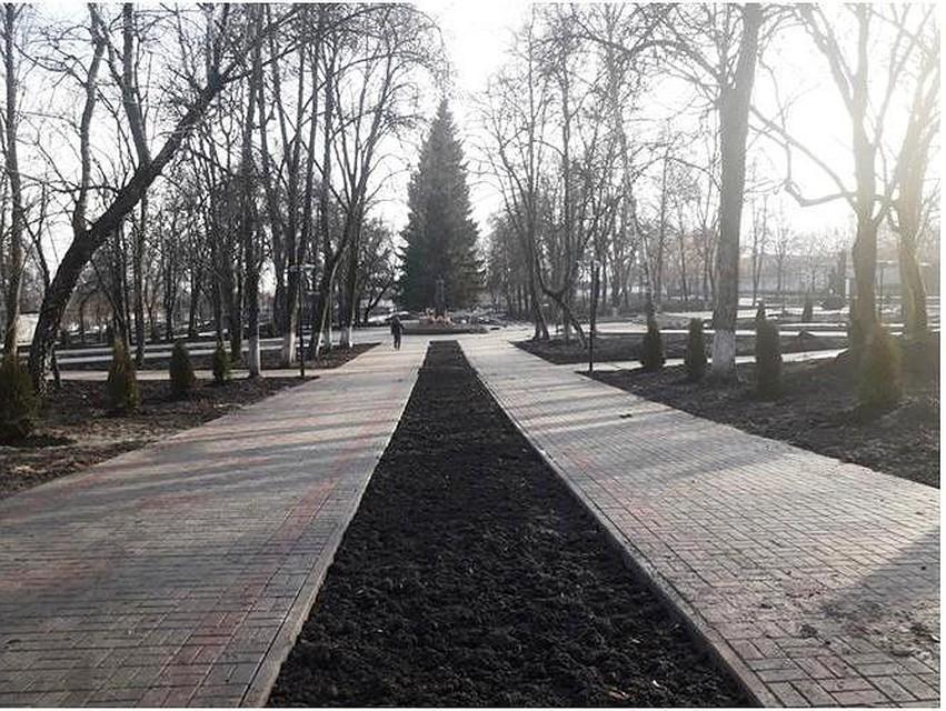 Реконструкцию курского парка Дзержинского продолжат в 2018