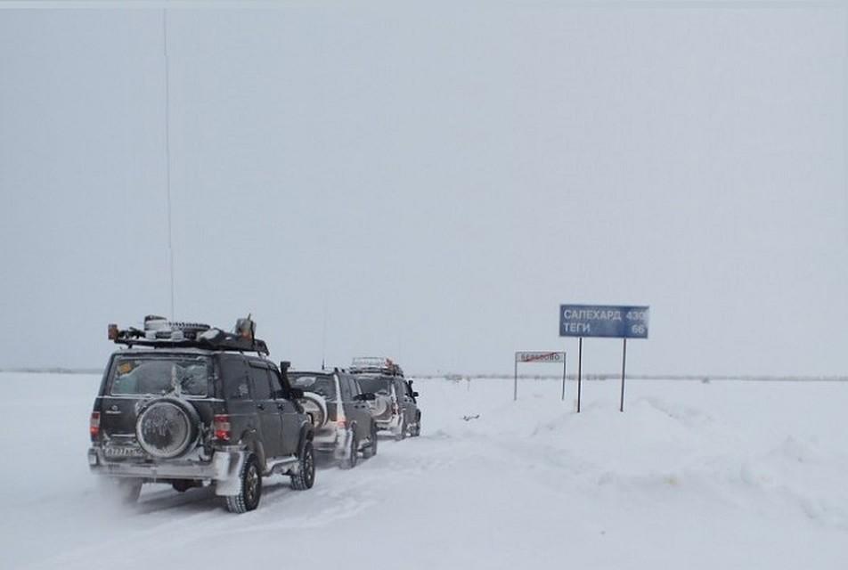 Надым вЯНАО: Из-за потепления закрыт автозимник Салехард