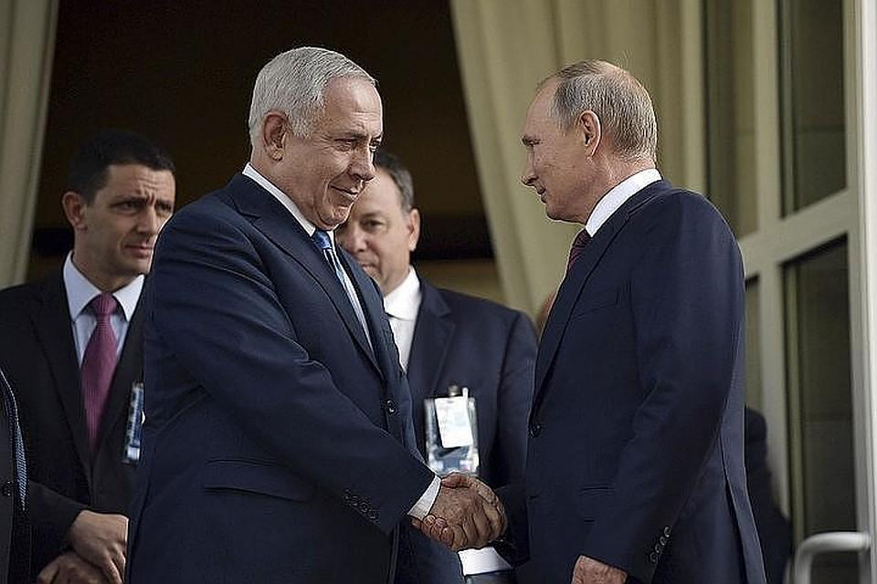 ВКремле поведали оготовящейся встрече В. Путина иНетаньяху