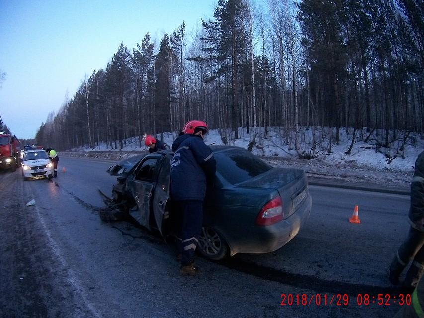 Три человека пострадали вДТП с«Ладой «и «КАМАЗом» вЧелябинской области