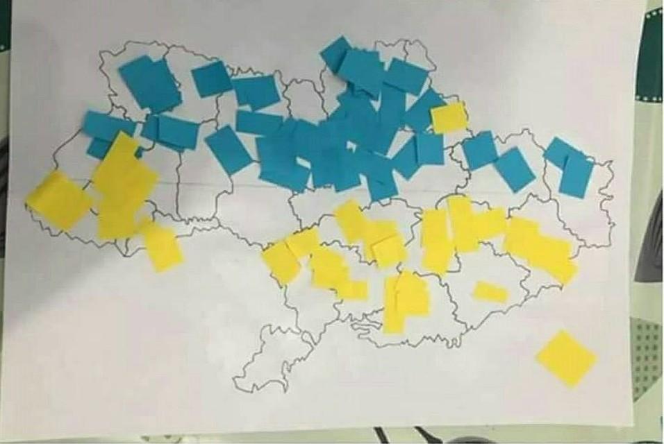 Вдетских садах демонстрируют карту Украины без Крыма— ВХарькове скандал