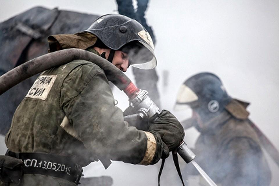 Пожарные локализовали пожар и устранили открытое горение вдетском лагере