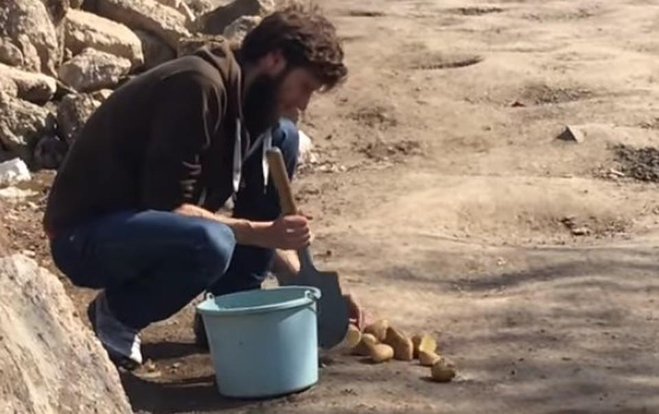 Самарец высадил ввыбоинах наулице Дачной 4 кгкартошки