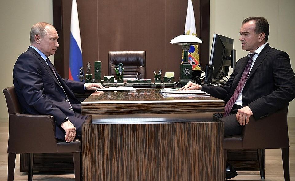 Губернатор Краснодарского края пообещал президенту, что все поручения майского указа будут выполнены