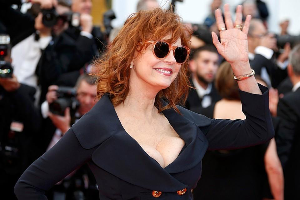 Актрису Сьюзан Сарандон задержали намитинге против Трампа
