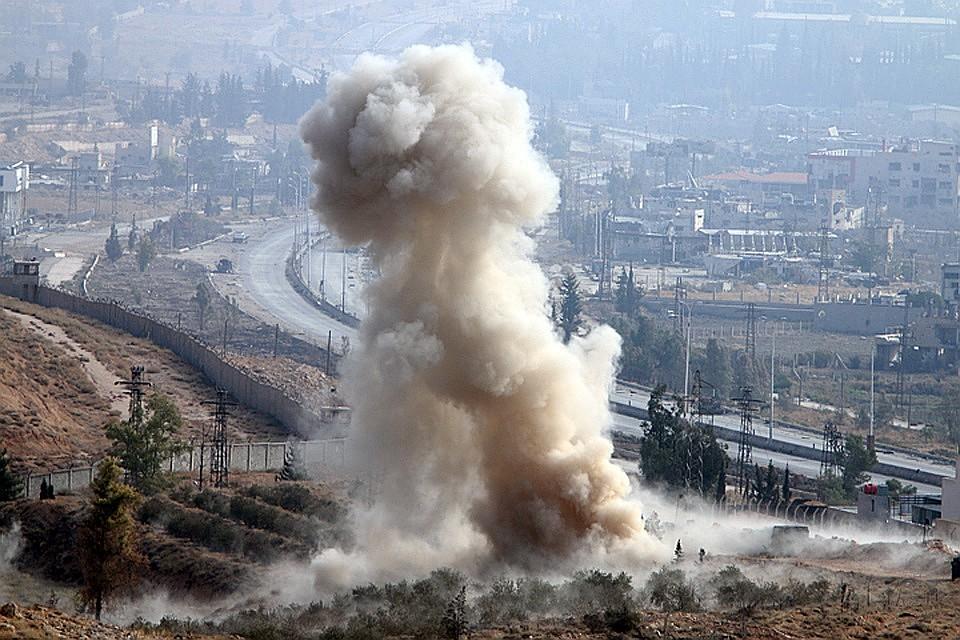 Впредместьях Дамаска прогремел мощнейший взрыв