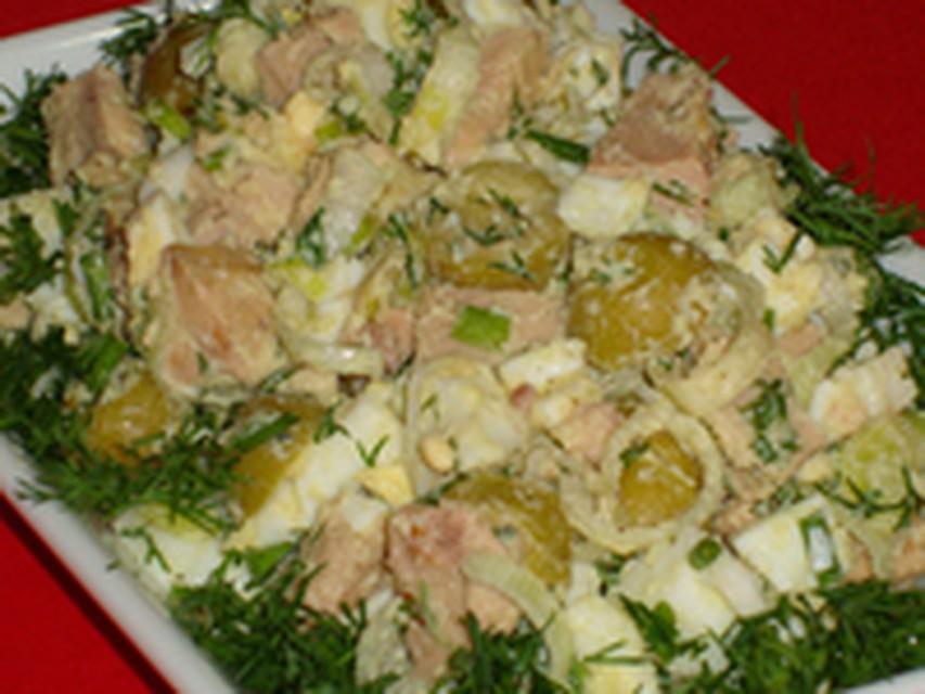 Салат с печенью трески без майонеза рецепт