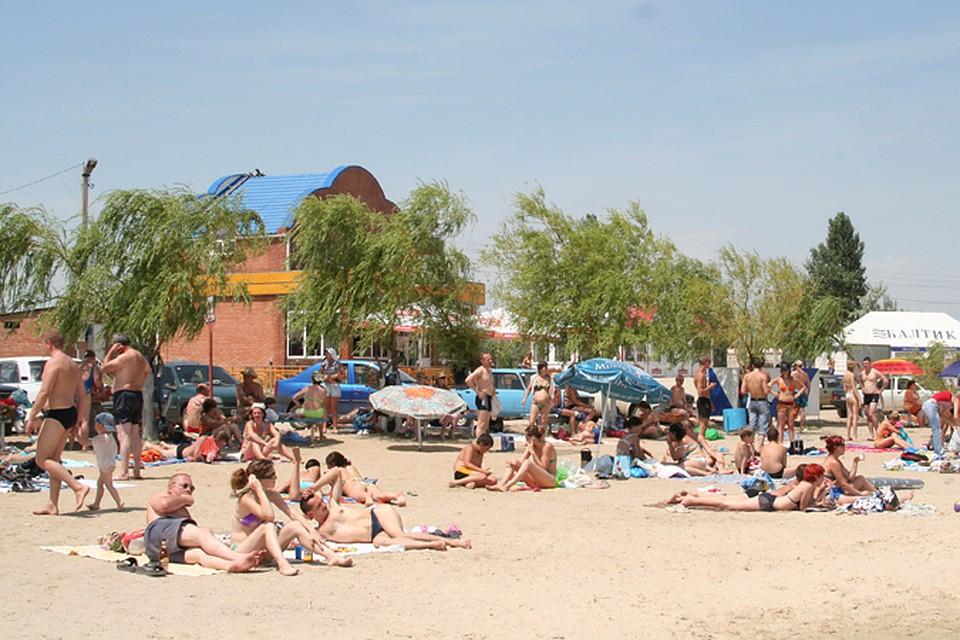 Пляж ростовское море 39