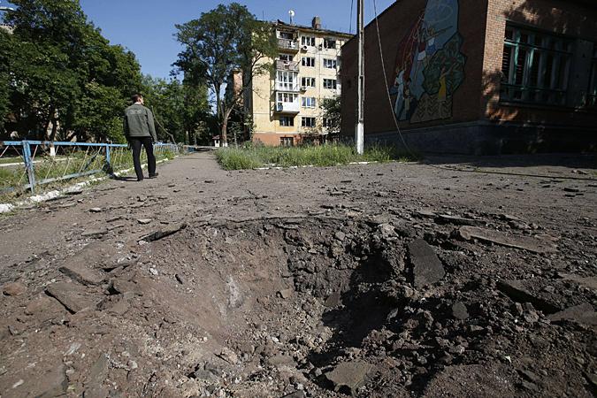 8 июля, украинские силовики начали бомбардировку Донецка